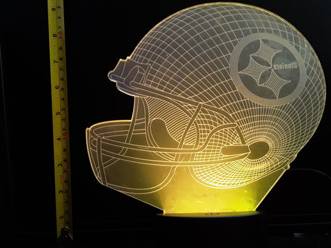 Pittsburgh Steelers NFL JUMBO 9x8 inch Color-Changing LED Helmet Night Light Lamp