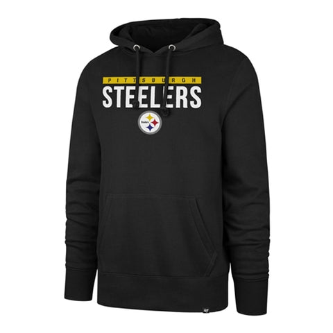 Pittsburgh Steelers NFL Jet Black Power Luck Headline Men's Hoodie