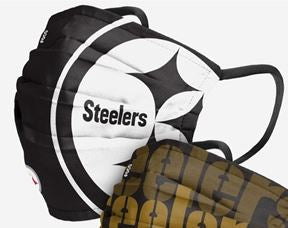Pittsburgh Steelers NFL Matchday Face Cover Mask Black & White