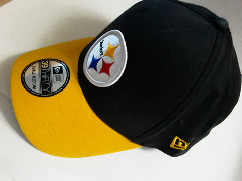 Pittsburgh Steelers NFL New Era Fitted 39Thirty Baseball Cap Hat Small-Medium