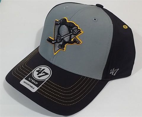 Pittsburgh Penguins NHL Black Radial Adjustable MVP Cap Hat