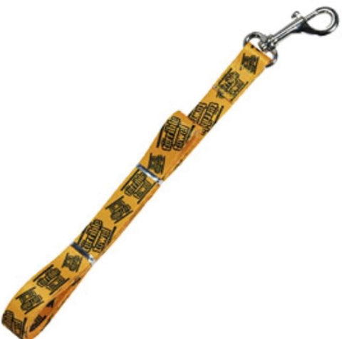 "Pittsburgh Steelers NFL Official Gold Terrible Towel Dog Leash 3/4"" x 60"""