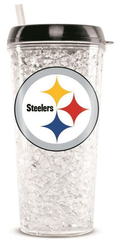 Pittsburgh Steelers 16 OZ NFL Crystal Freezer Mug Cup