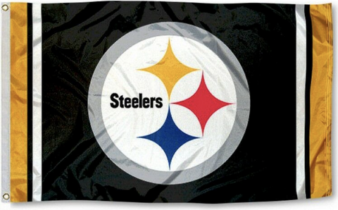 Pittsburgh Steelers 3x5 Feet Striped Edges NFL Flag