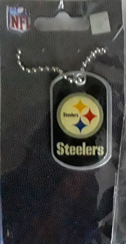 Pittsburgh Steelers Color NFL Dog Tag Necklace