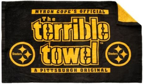 Pittsburgh Steelers Myron Copes Black & Gold NFL 25 x 15 Terrible Bowel