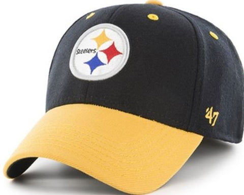 Pittsburgh Steelers NFL 2 Tone Kick Off Contender Stretch Fit 47 Baseball Cap Hat
