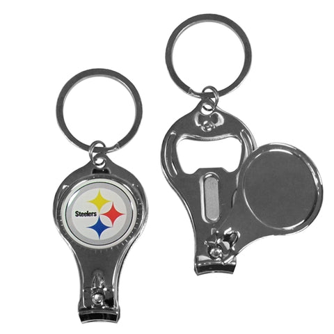Pittsburgh Steelers NFL 3 in 1 Metal Key Chain Bottle Opener Nail Clippers