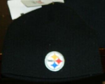 Pittsburgh Steelers NFL Black 2-Sided Beanie Knit Hat