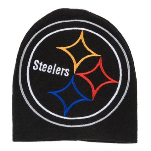 Pittsburgh Steelers NFL Black HYPE Beanie Knit Hat