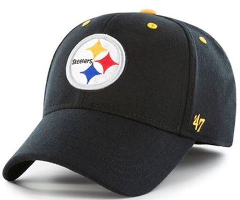 Pittsburgh Steelers NFL Black Kick Off Contender Stretch Fit Hat