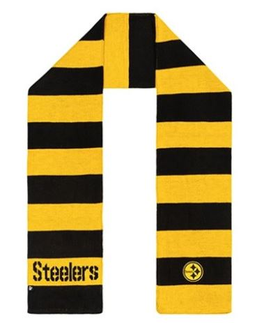 Pittsburgh Steelers NFL Black Triumph Team Knit Acrylic Scarf