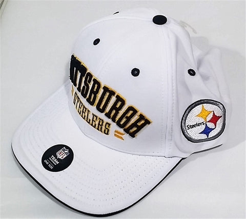 Pittsburgh Steelers NFL Burke MVP Adjustable White Baseball Cap Hat