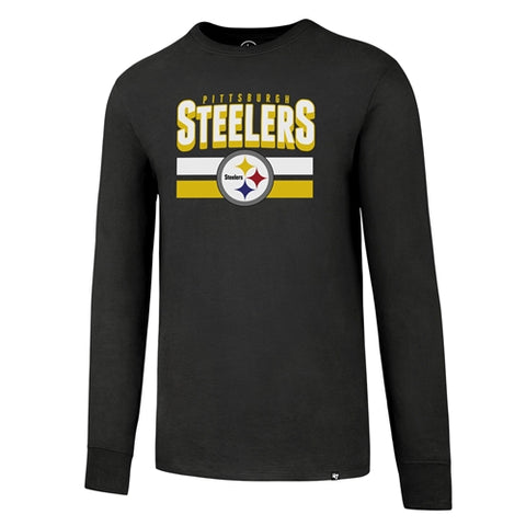 Pittsburgh Steelers NFL Charcoal Splitter Long Sleeve Tee Shirt Size 2XL