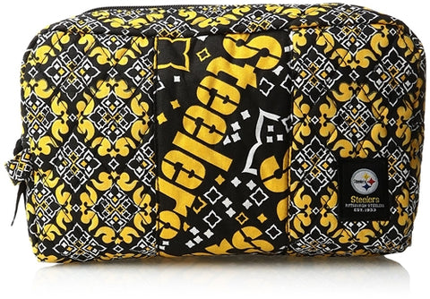 Pittsburgh Steelers NFL Fabric Cosmetic 11x7x3 Cotton Bag
