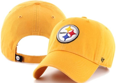 Pittsburgh Steelers NFL Gold Cleanup Adjustable 47 Baseball Cap Hat