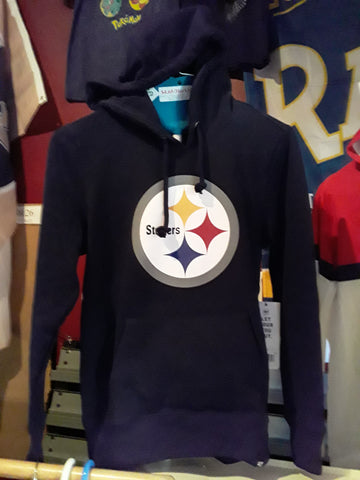 Pittsburgh Steelers NFL Jet Black Club Hooded Long Sleeve Womens Hoodies