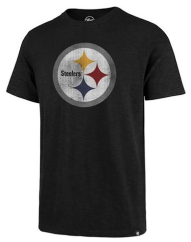 Pittsburgh Steelers NFL Jet Black Mens Scrum T Shirt 2XL