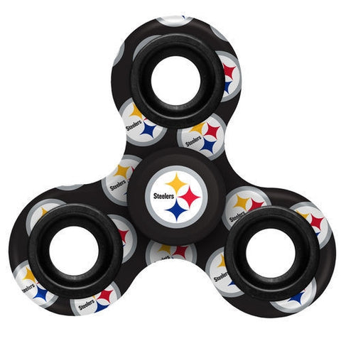 Pittsburgh Steelers NFL Multi Logo Printed 3 Way Fidget Spinners