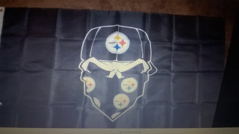 Pittsburgh Steelers Skull NFL 3x5 Foot Flag