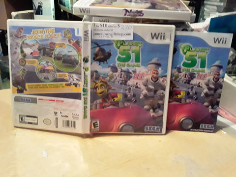 Planet 51 Used Nintendo Wii Video Game