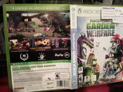 Plants vs. Zombies Garden Warfare Used Xbox 360 Video Game