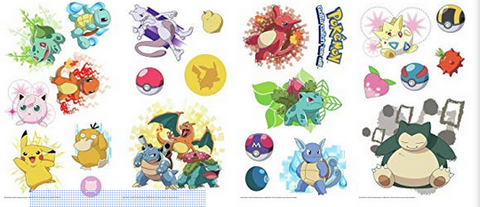 Pokemon Iconic Peel and Stick 24 Wall Decals