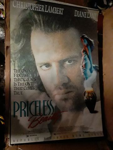 Priceless Beauty Christopher Lambert Diane Lane 1989 Movie Poster 27x40 USED
