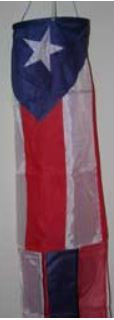 Puerto Rico 60 inch Polyester Wind Sock