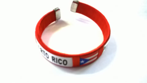 Puerto Rico Flag Bangle Bracelet in various colors