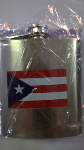 Puerto Rico Stainless Steel Hip Flask