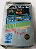 Rad Racer NES Original Used Video Game