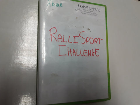 Ralli Sport Challenge Part 1 Used Original Xbox Video Game