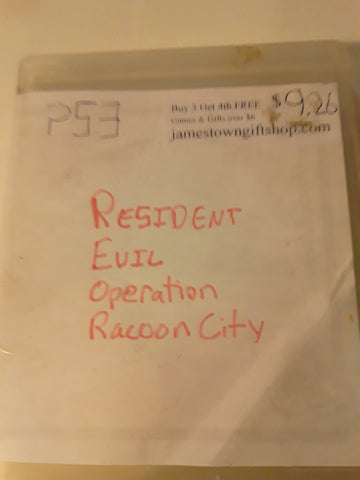 Resident Evil Operation Racoon City Used PS3 Video Game