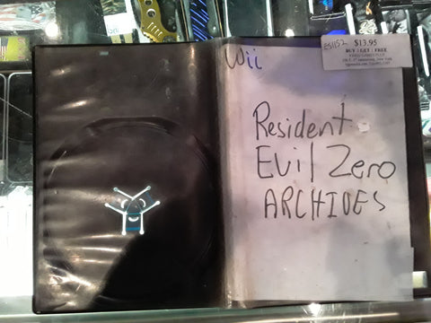 Resident Evil Zero Archives Used Nintendo Wii Video Game