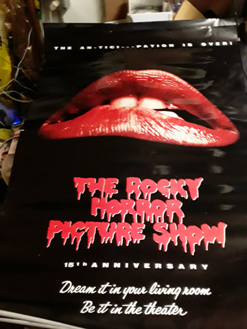 Rocky Horror Picture Show 15th Anniversary Movie Poster 27x40 USED