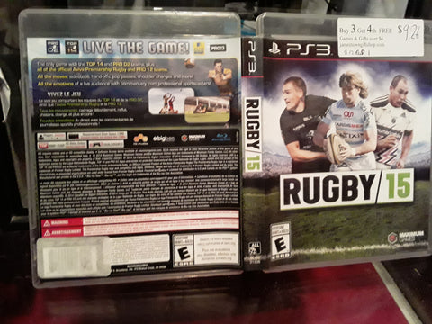 Rugby 15 Used PS3 Video Game