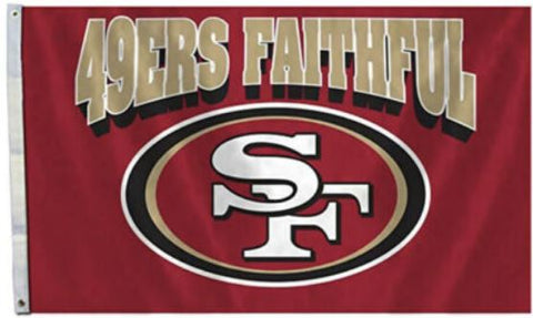 San Francisco 49ers Faithful 3x5 NFL Flag