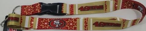 San Francisco 49ers NFL Ugly Sweater Lanyard Key Chain