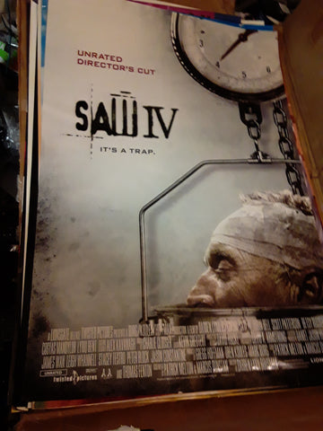 Saw IV 2007 Tobin Bell Movie Poster 27x40 USED