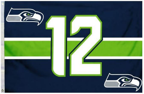 Seattle Seahawks 12th Man 3x5 Feet NFL Flag