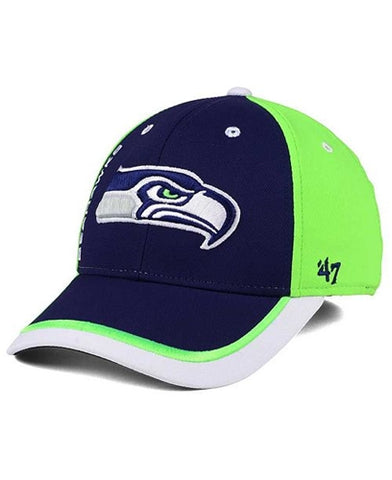 Seattle Seahawks NFL Crash Line Contender Stretch Fit Hat 47 Brand
