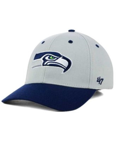 Seattle Seahawks NFL Kick Off 2 Tone Contender Stretch Fit Cap Hat  Size S M