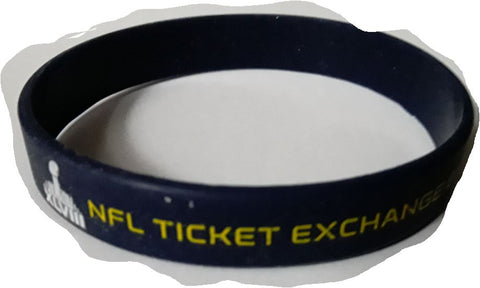 Seattle Seahawks vs. Denver Broncos Super Bowl XVLIII  NFL Silcone Rubber Bracelet