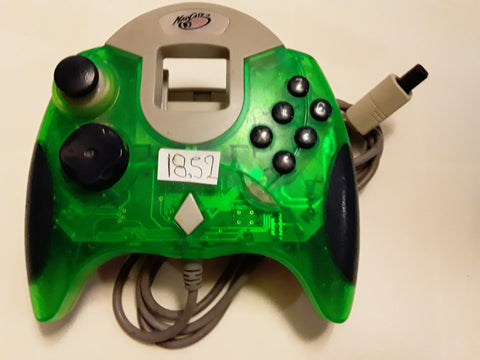 Sega Dreamcast Clear Green MadCatz Controller USED
