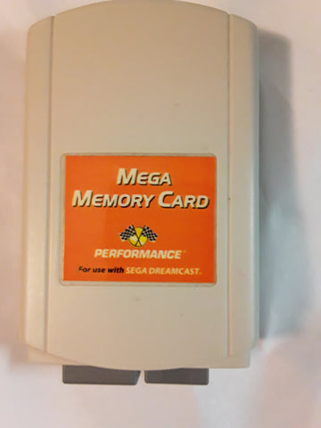 Sega Dreamcast Performance Mega Memory Card USED
