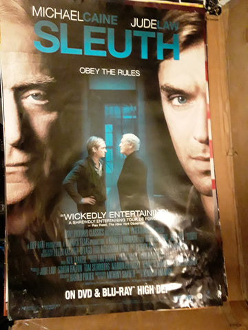 Sleuth 2007 Jude Law Michael Caine Movie Poster 27x40 USED