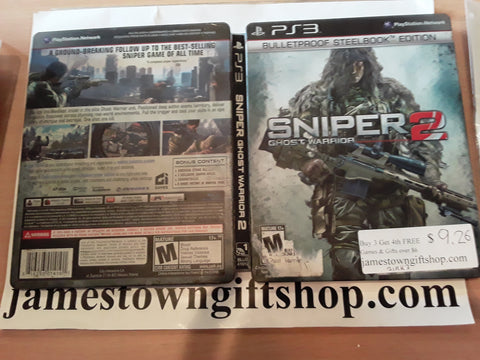 Sniper Ghost Warrior 2 Bulletproof Steelbook Case Used PS3 Video Game