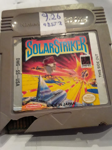 Solar Striker Used Gameboy Video Game Cartridge