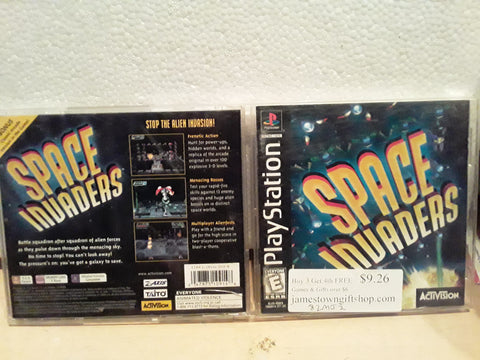 Space Invaders Used Playstation 1 Game